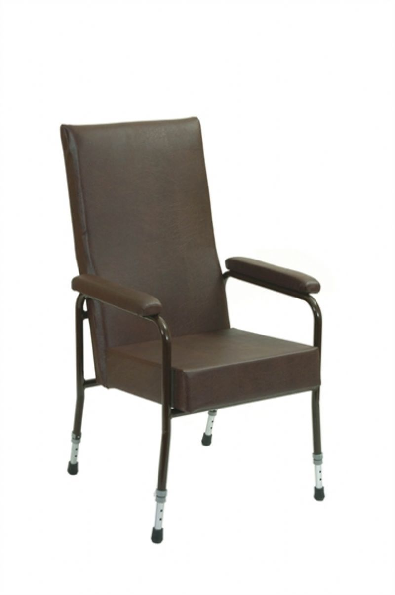 High Back Chair With (Adjustable Legs)