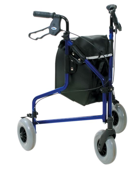 Rollator - Lightweight Aluminium Tri Wheel with Loop Brakes