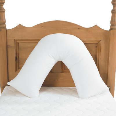 V-Shaped Back Support Pillow Cover