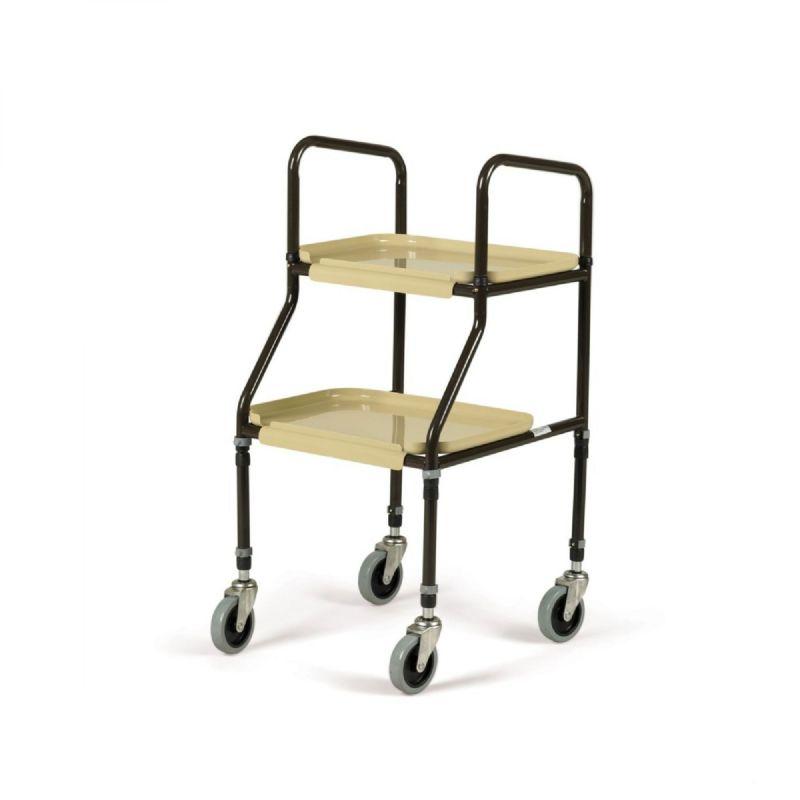 Adjustable Height Plastic Shelf Trolley