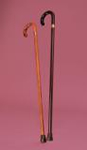 Wooden Stick With Crook Handle (Natural)