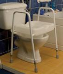 Raised Toilet Seat Frame With Comfy Seat